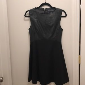 French connection black sleeveless dress